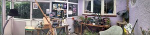 pano view of studio/conservatory