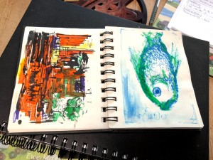photo of sketchbook